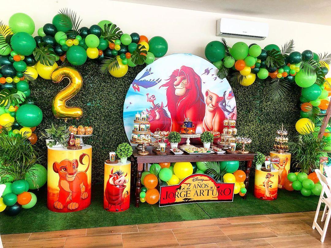 Ideas de como decorar fiesta rey león