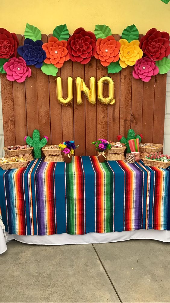 ideas para decorar con globos una fiesta mexicana