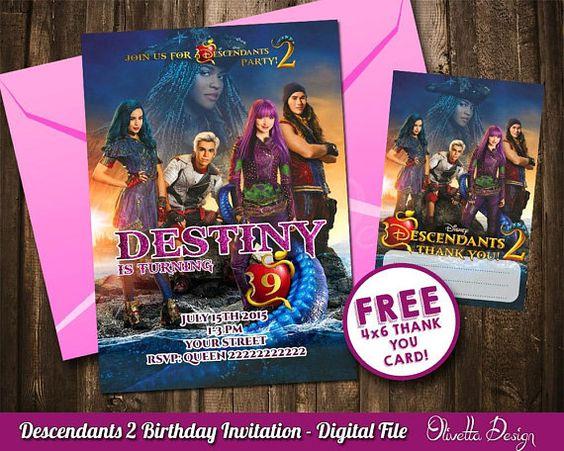 invitaciones para un cumpleaños de decendientes