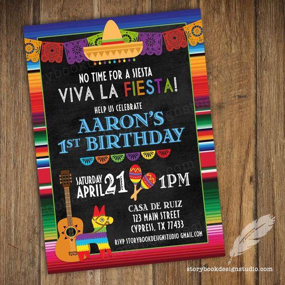 invitaciones para una fiesta mexicana