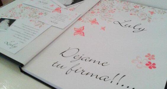 Libros de firmas para 15 años tradicionales