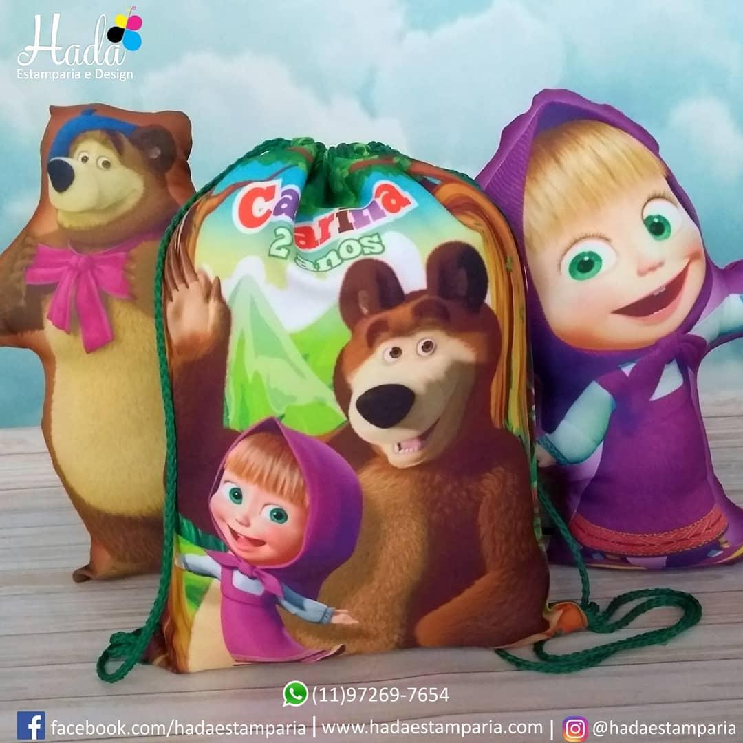 mochila de dulces para cumpleaños de masha y el oso