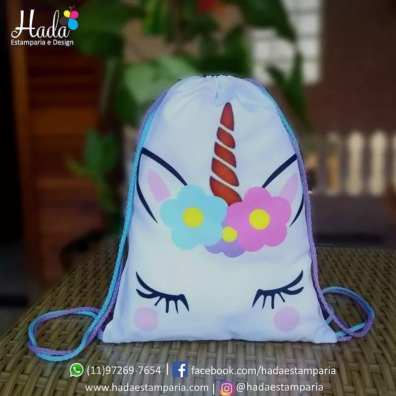 mochila para dulces de unicornio