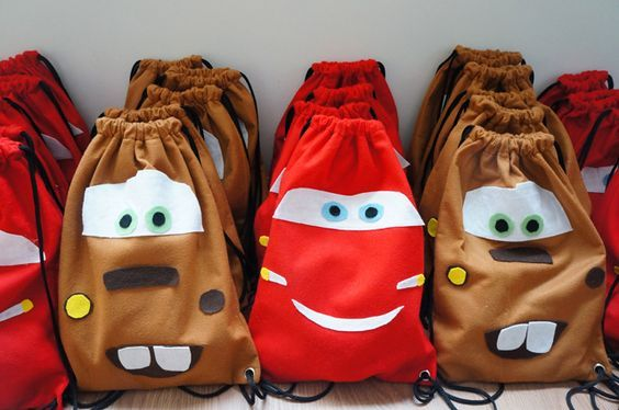 mochilas para dulces fiesta de cars