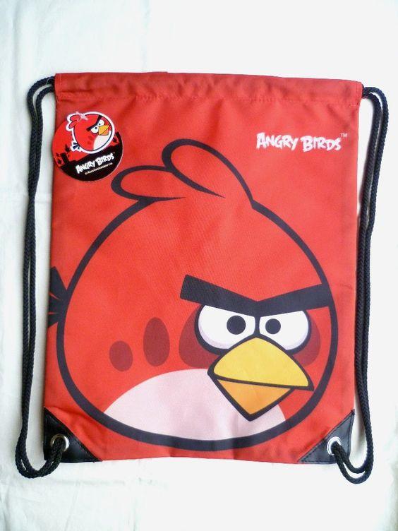 mochilas para fiestas de angry birds