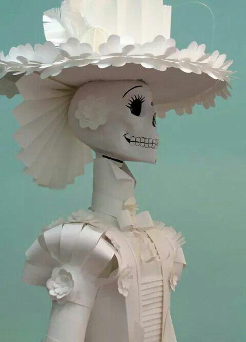 catrinas de papel para montar al altar de muertos