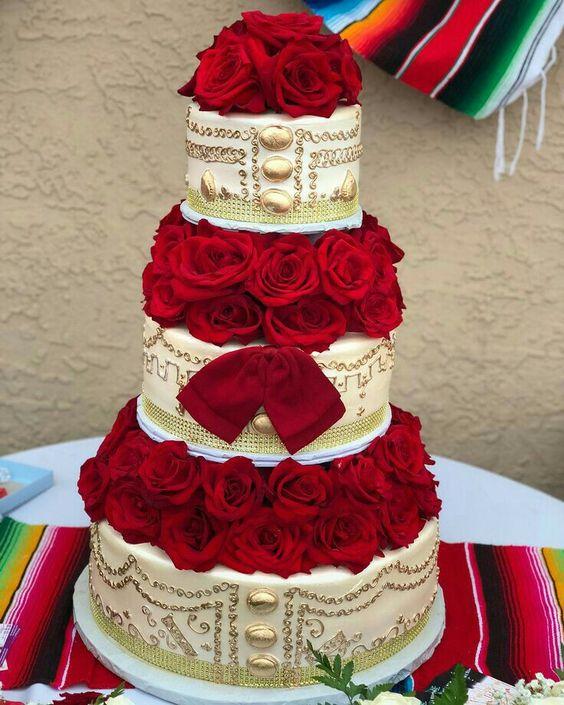 pastel para 15 años charros