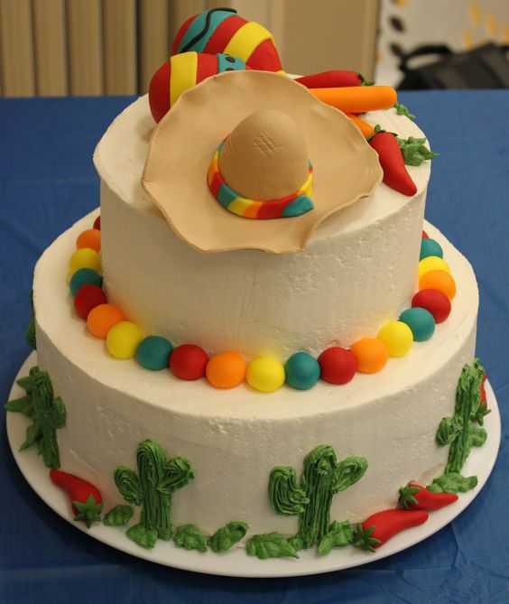 pasteles para fiesta tematica mexicana