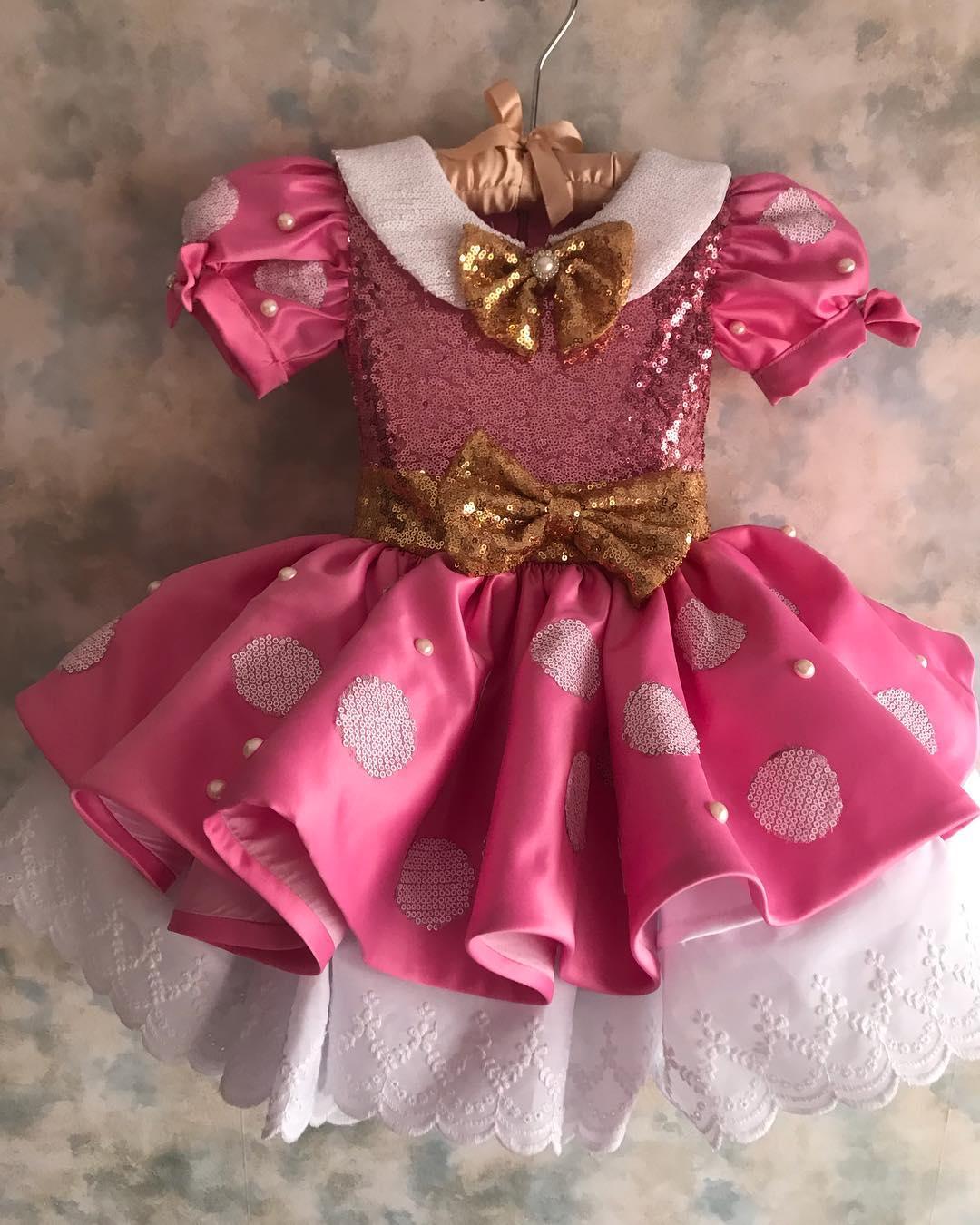 vestido de minnie tipo tutu