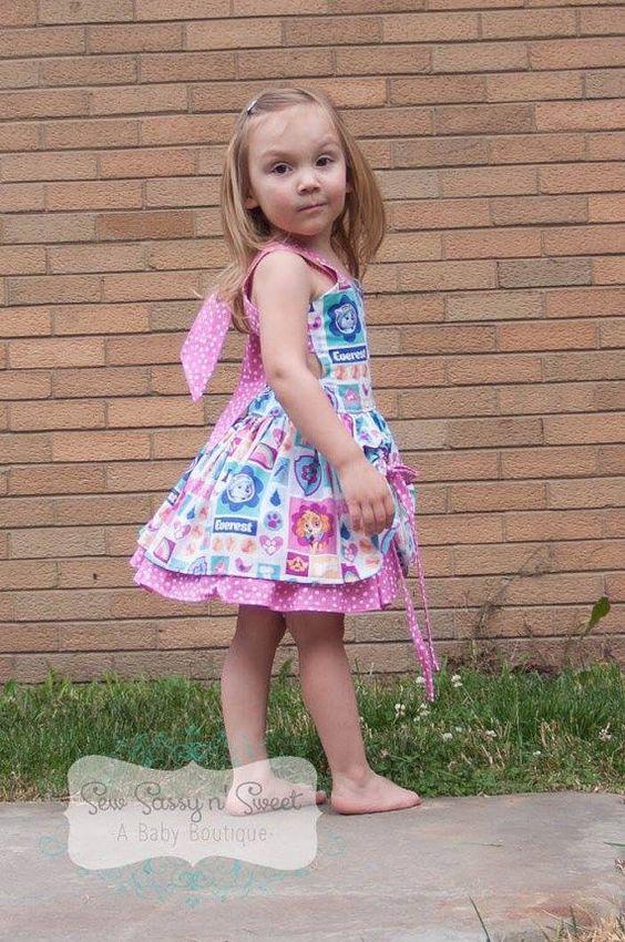 vestido de paw patrol para la cumpleañera