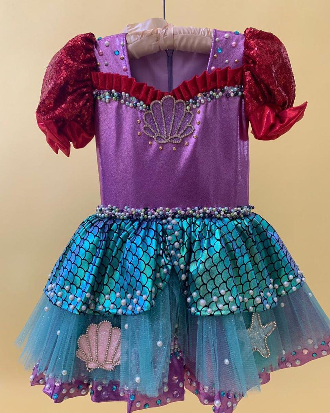 vestido de sirenita tipo tutu