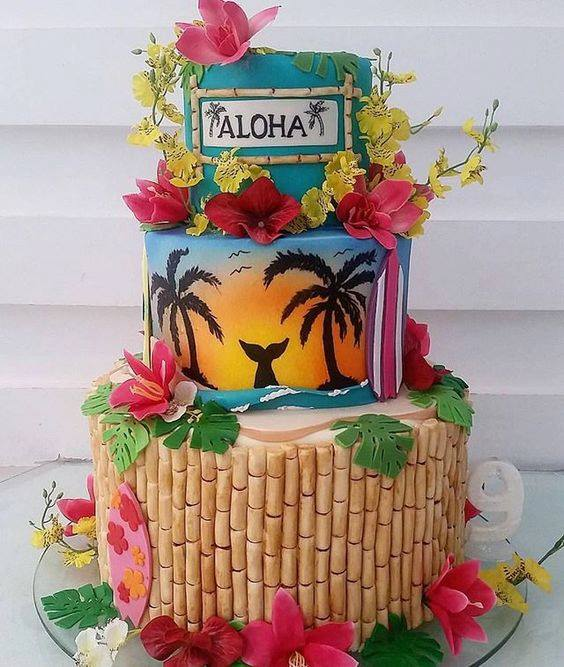 Pasteles tropicales para fiestas modernas