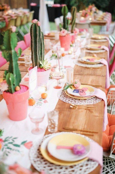 Centros de mesa para fiesta mexicana