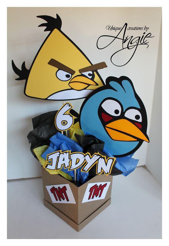 adornos para mesas de angry birds economicos