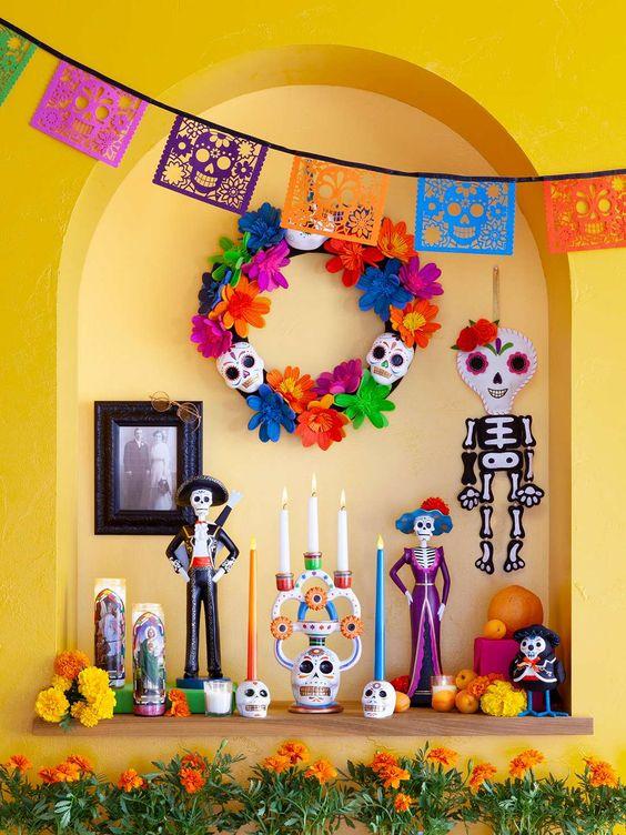 arreglos para fiestas de dia de muertos