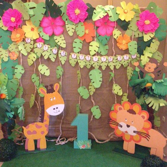 backdrops para fiesta de safari