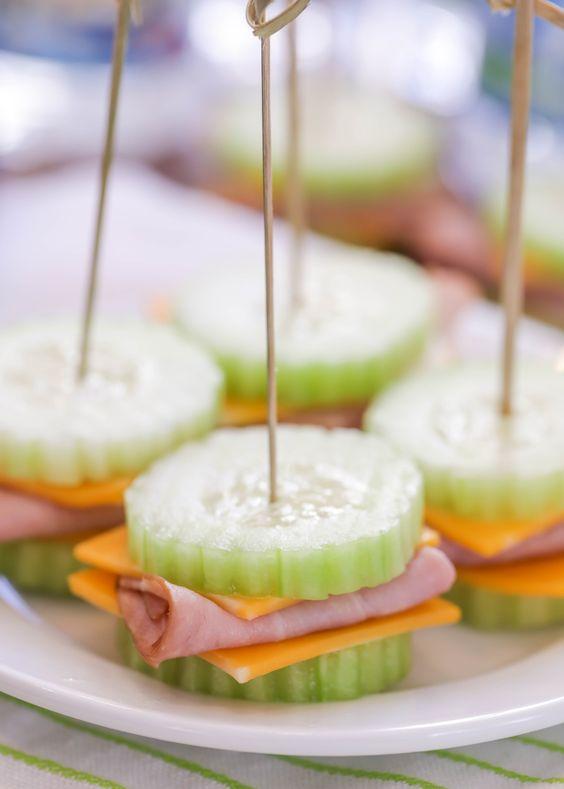 bocadillos con vegetales para dar en fiestas