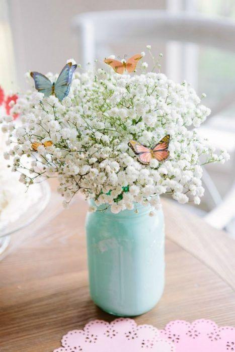 centros de mesa para fiesta de mariposa