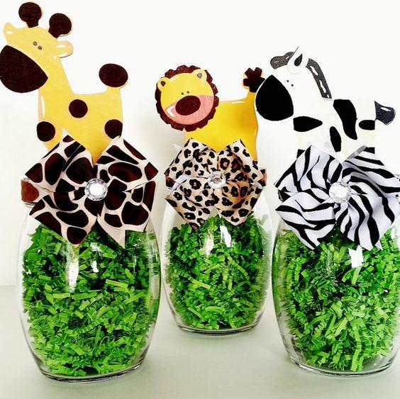 centros de mesa para fiesta de safari