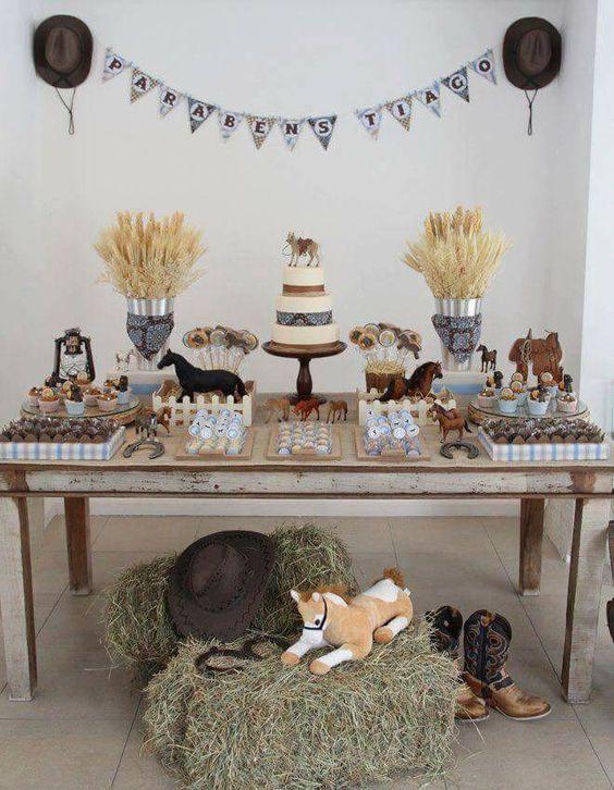 como decorar un cumpleaños de caballos