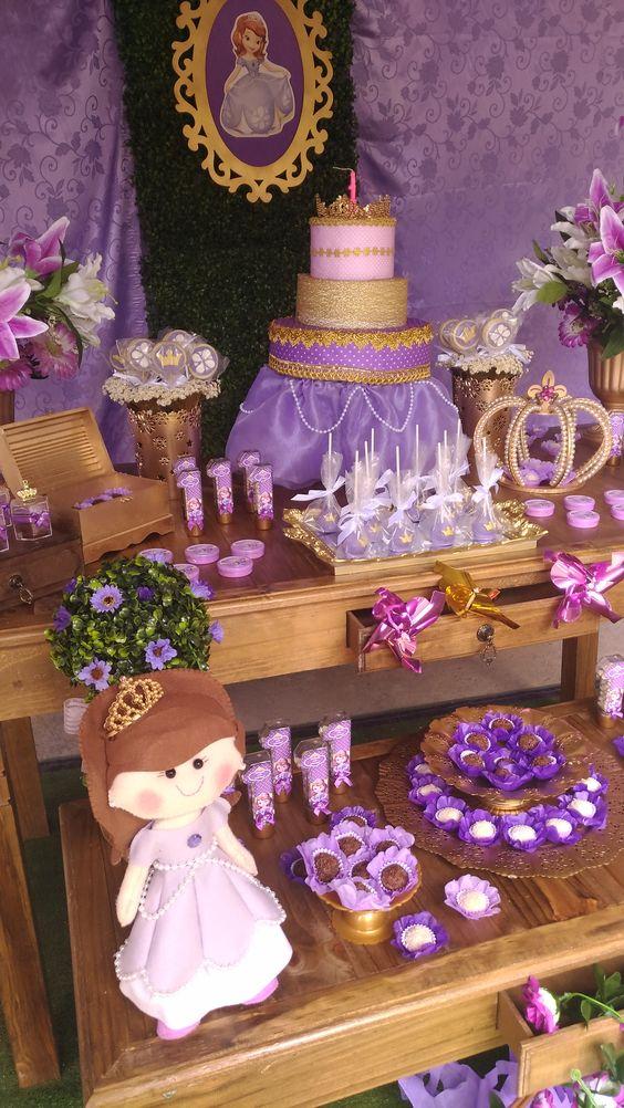 como decorar un cumpleaños de princesa sofia