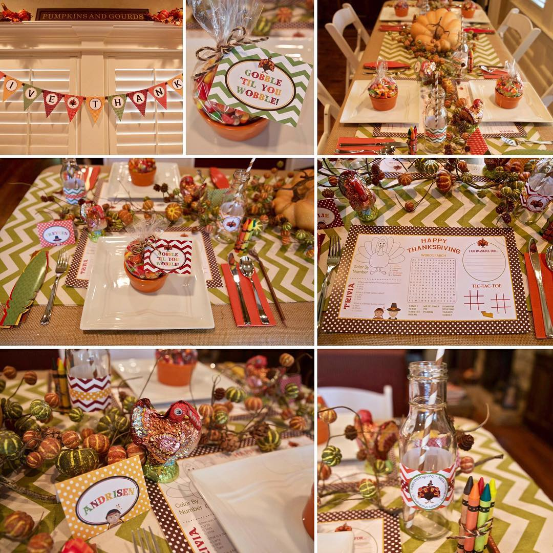 como decorar una fiesta de accion de gracias