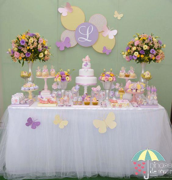 cumpleaños de mariposas en casa