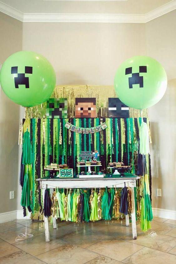 cumpleaños de mine craft para niños