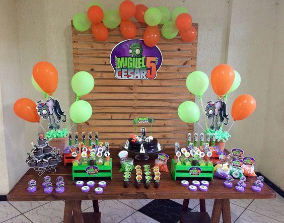 cumpleaños de plantas contra zombies para niños