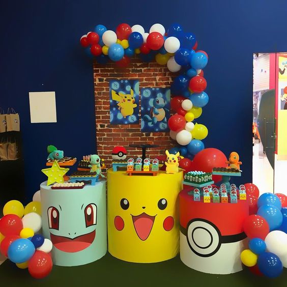 cumpleaños de pokemon para niño