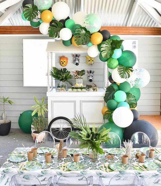decoracion moderna para cumpleaños de safari