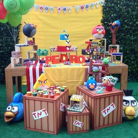 decoracion para una fiesta de angry birds