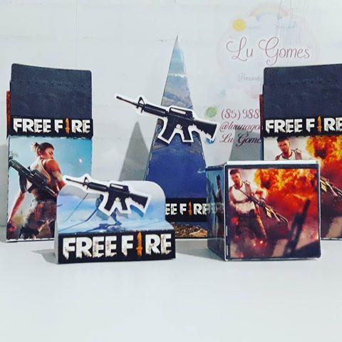 dulceros para una fiesta de free fire
