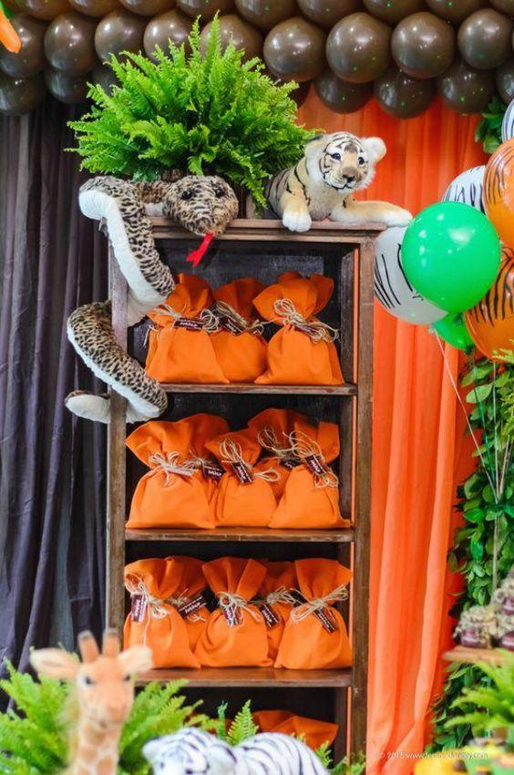 dulceros para una fiesta de safari