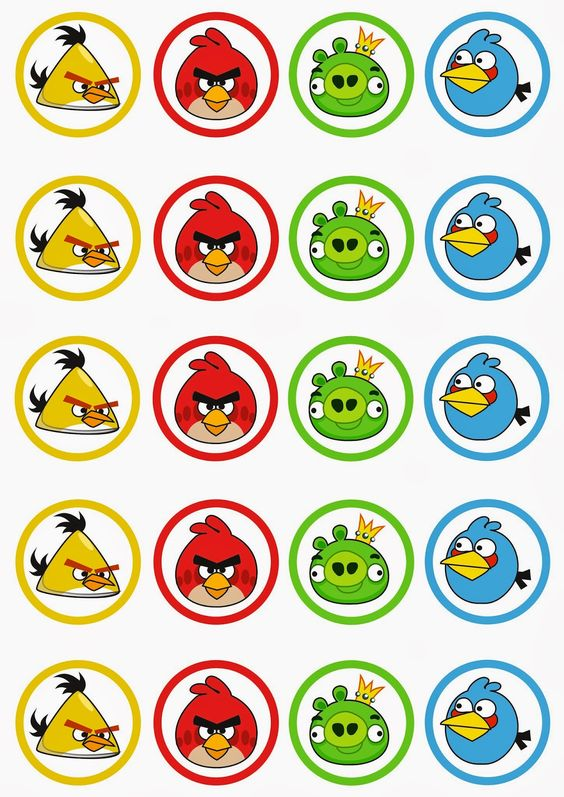 etiquetas para fiesta de angry birds