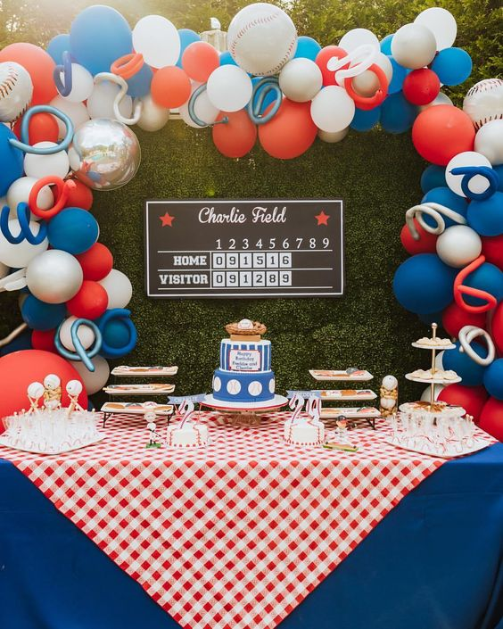 fiesta de beisbol para niño
