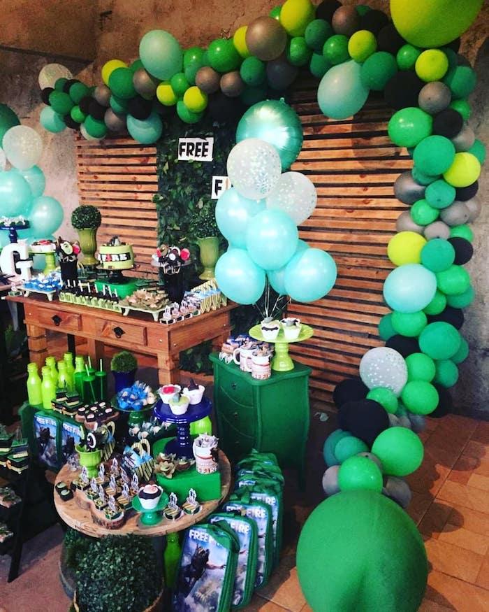 globos para decorar cumpleaños de free fire