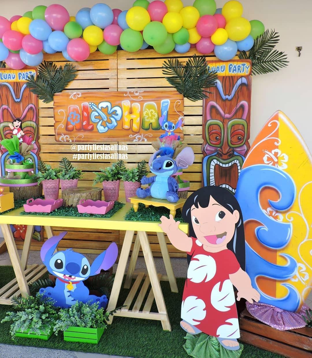 globos para decorar cumpleaños de lilo y stich