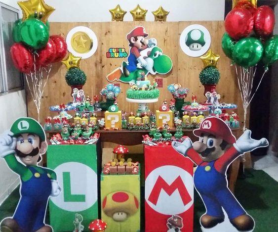 globos para decorar cumpleanos de mario bros baby