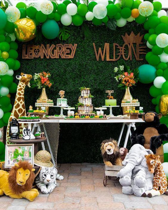 globos para decorar una fiesta de safari
