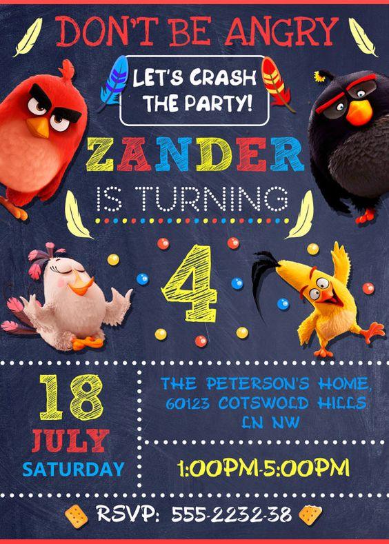invitaciones de angry birds
