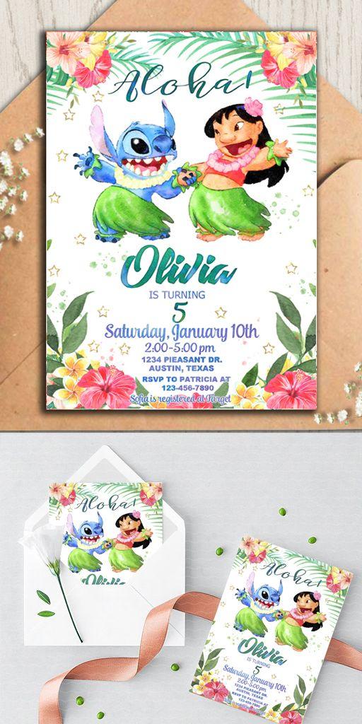 invitaciones para cumple de lilo y stich