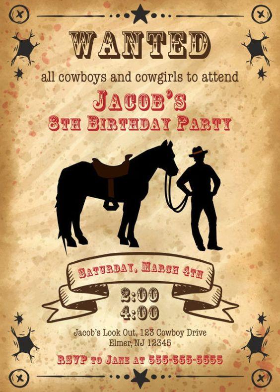 invitaciones para cumpleaños de caballos