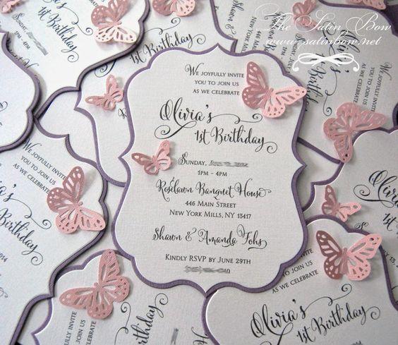 invitaciones para fiesta de mariposas