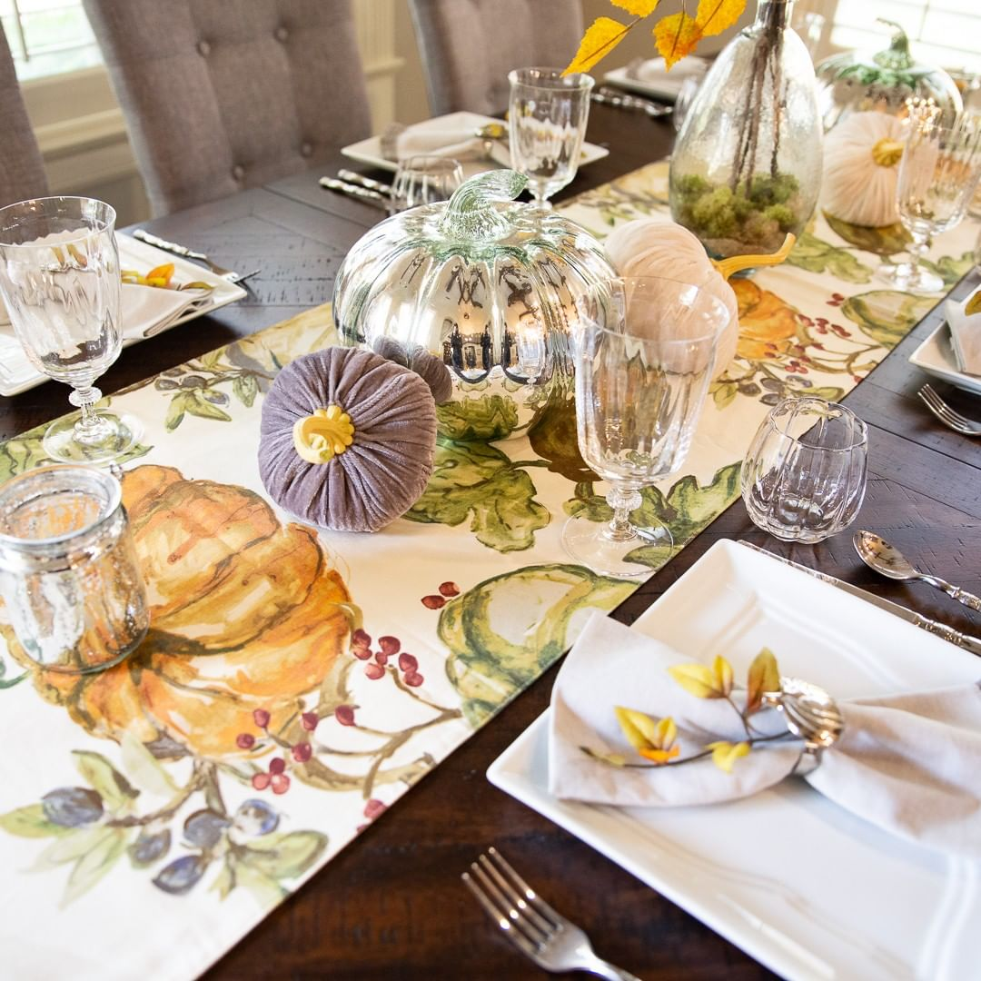 mesas decoradas para accion de gracias