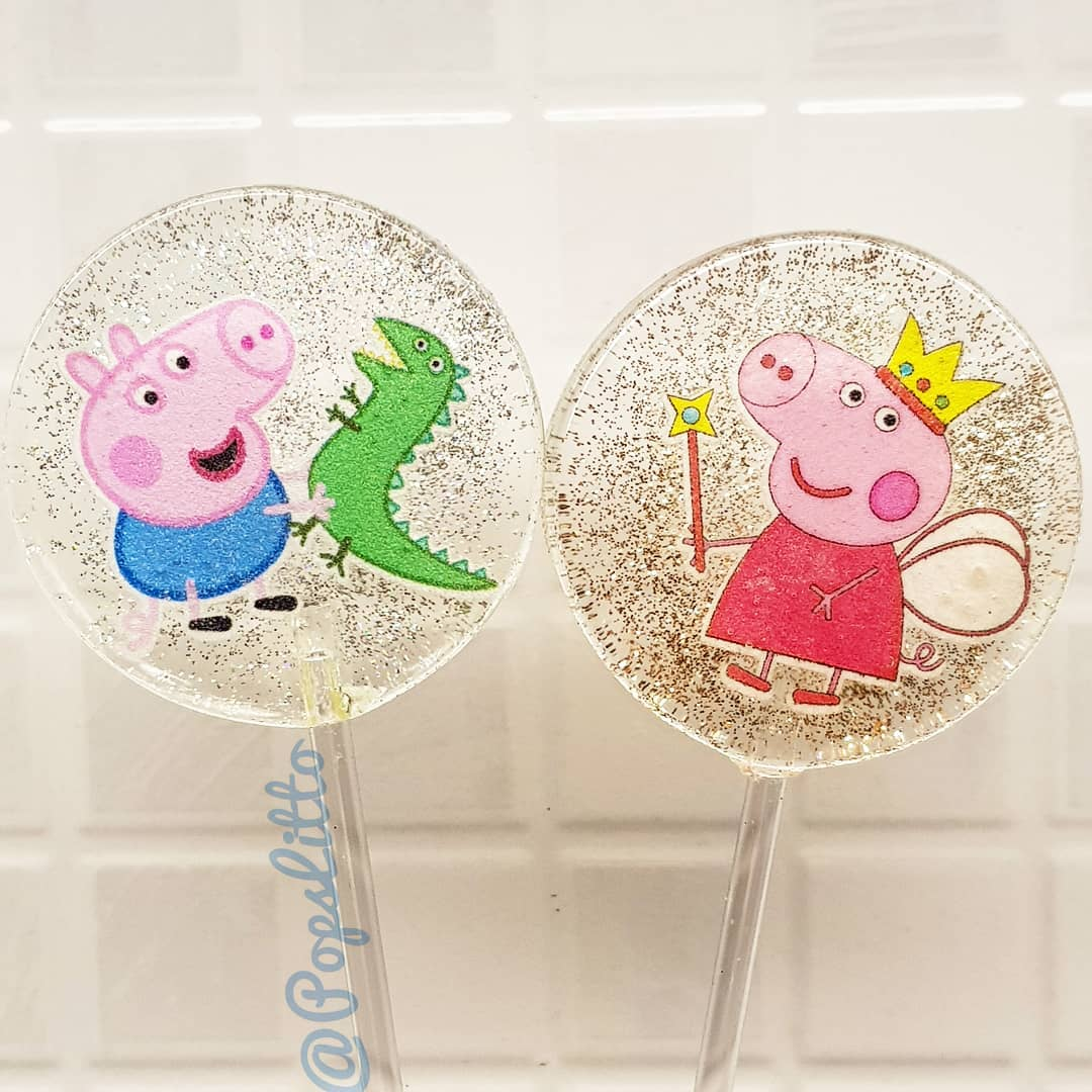 paletas personalizadas para fiesta de peppa pig