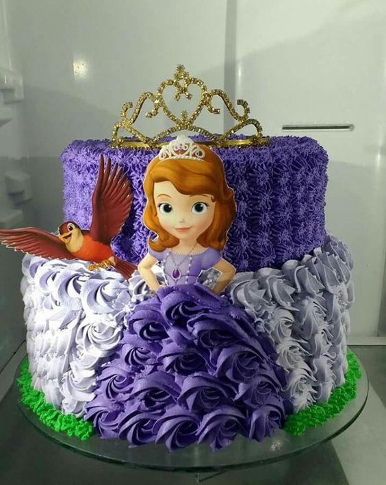 pasteles de princesa sofia modernos