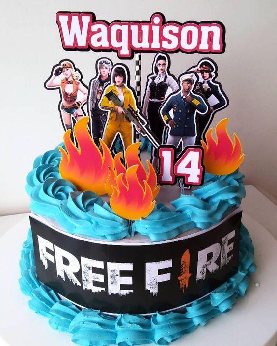 pasteles para cumpleaños de free fire
