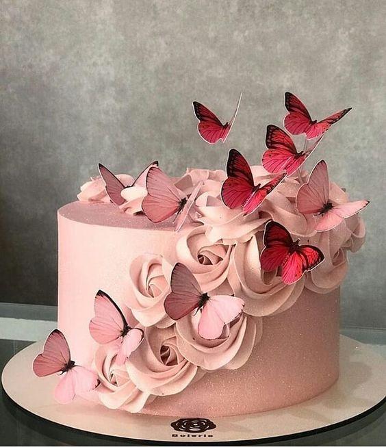 pasteles para cumpleaños de mariposas