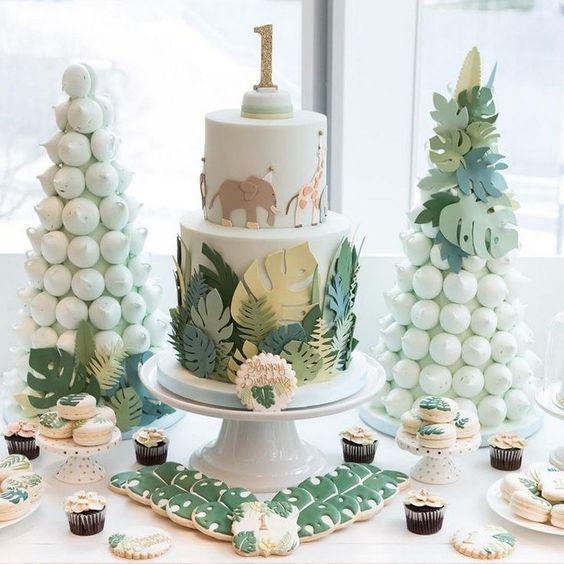 pasteles para cumpleaños de safari